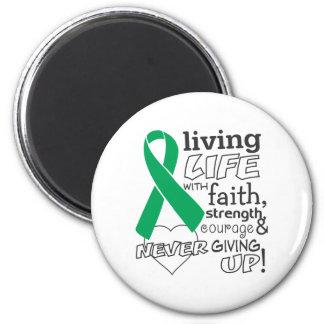 Vida viva del cáncer de hígado con la fe iman de frigorífico