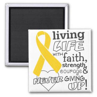 Vida viva del cáncer de la niñez con la fe iman