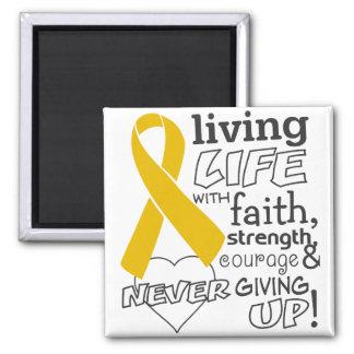 Vida viva del cáncer del apéndice con la fe iman para frigorífico