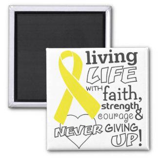 Vida viva del cáncer del sarcoma con la fe imán de frigorifico
