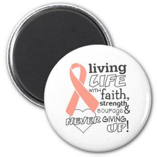Vida viva del cáncer endometrial con la fe imán de frigorífico