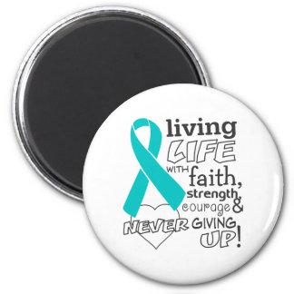 Vida viva del cáncer ginecológico con la fe imanes para frigoríficos