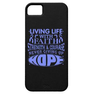 Vida viva del cáncer intestinal con la fe iPhone 5 protector