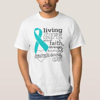 Vida viva del cáncer peritoneal con la fe playeras