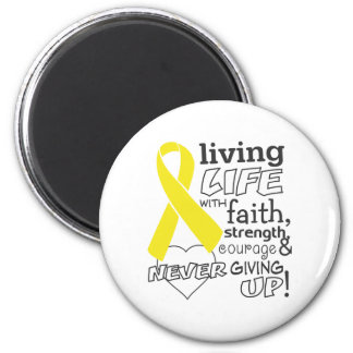 Vida viva del cáncer testicular con la fe imanes para frigoríficos