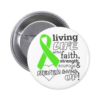 Vida viva del linfoma no-Hodgkin con la fe Pin Redondo De 2 Pulgadas