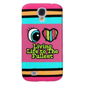 Vida viva del ojo del amor brillante del corazón I Funda Para Galaxy S4