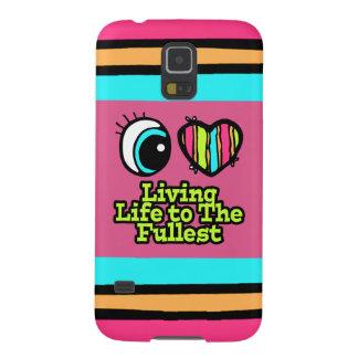 Vida viva del ojo del amor brillante del corazón I Carcasa Para Galaxy S5