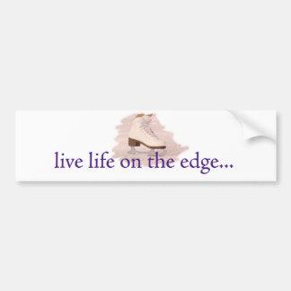 Vida viva en el borde… pegatina de parachoque