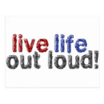 Vida viva hacia fuera ruidosamente postales