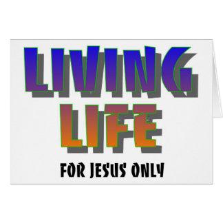 Vida viva para decir cristiano de Jesús solamente Felicitacion
