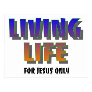 Vida viva para decir cristiano de Jesús solamente Tarjetas Postales