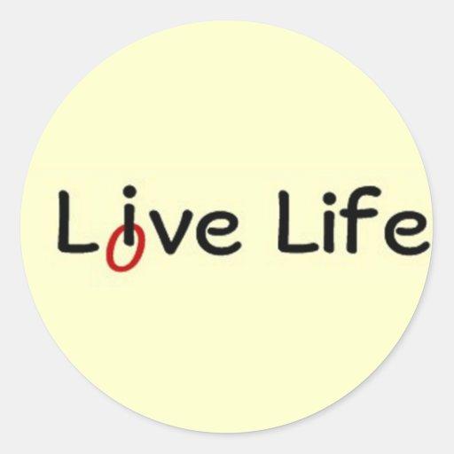 Vida viva, vida del amor etiquetas redondas