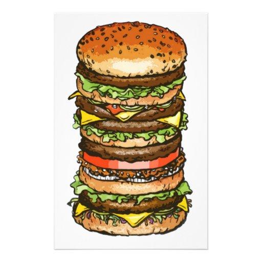 vida y alegría de la hamburguesa papeleria