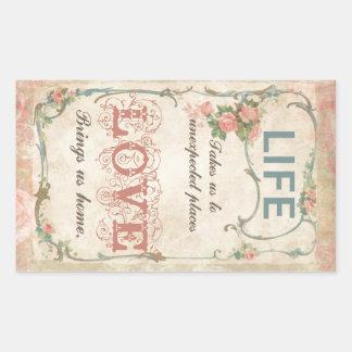 Vida y amor en una etiqueta antigua del francés