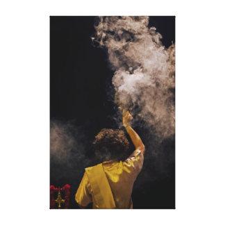 Vida y humo lona estirada galerías