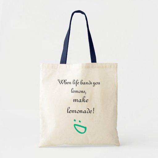 Vida y limones bolsa tela barata