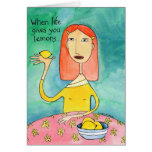 Vida y limones tarjetas