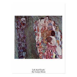 Vida y muerte de Gustavo Klimt Postal