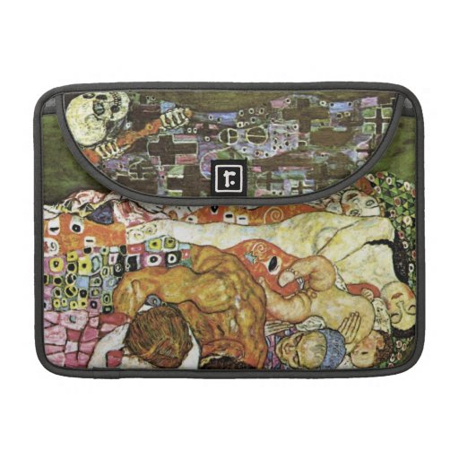 Vida y muerte del ~ de Gustavo Klimt Funda Para Macbooks