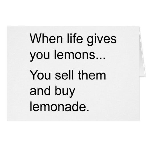 vida y sus limones tarjeta de felicitación
