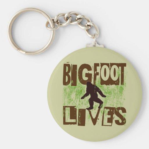 Vidas de Bigfoot Llavero Personalizado