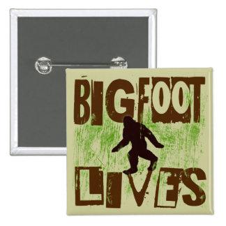 Vidas de Bigfoot Pin Cuadrado