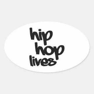 Vidas de Hip Hop Pegatina Ovalada