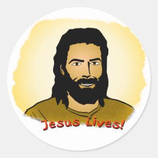¡Vidas de Jesús! Pegatina Redonda