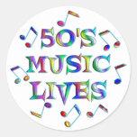 vidas de la música 50s etiqueta redonda