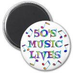 vidas de la música 50s iman de nevera