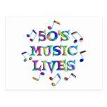 vidas de la música 50s tarjetas postales