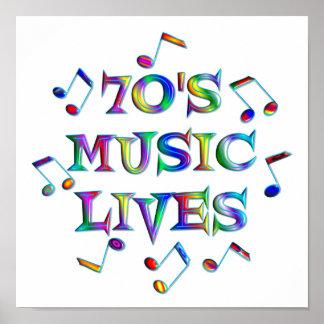 vidas de la música 70s impresiones