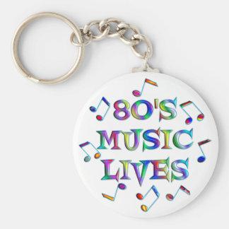 vidas de la música 80s llaveros