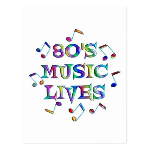 vidas de la música 80s postales