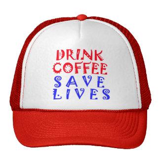 Vidas de la reserva del café de la bebida gorros bordados