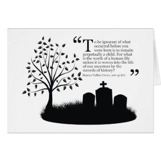 Vidas de nuestros antepasados tarjeta pequeña