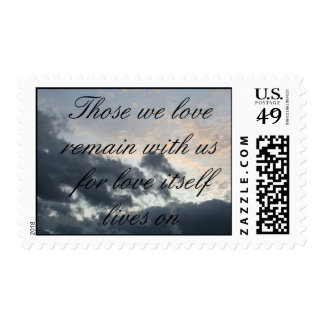 Vidas del amor encendido timbre postal