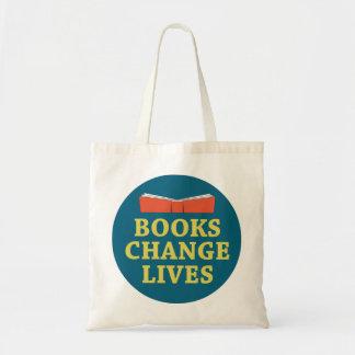 Vidas del cambio de los libros bolsa tela barata