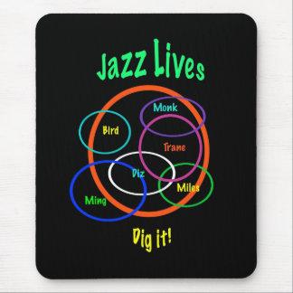 Vidas del jazz mouse pads