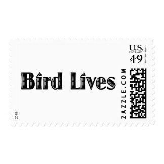 Vidas del pájaro sellos postales
