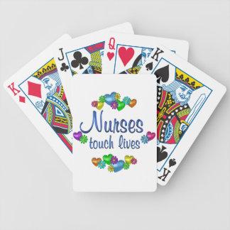 Vidas del tacto de las enfermeras baraja cartas de poker