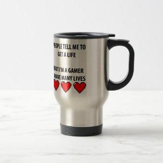 Vidas del videojugador taza de café