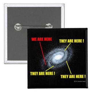 Vidas en galaxia pin cuadrado