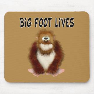 Vidas grandes del pie tapete de ratones