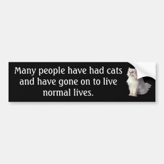 Vidas normales pegatina para auto