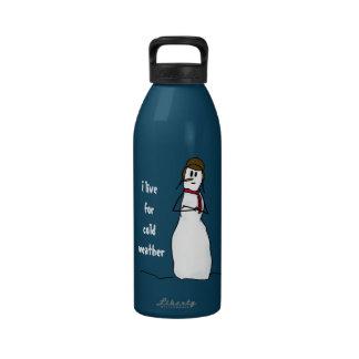 Vidas sarcásticas del muñeco de nieve para el tiem botella de agua