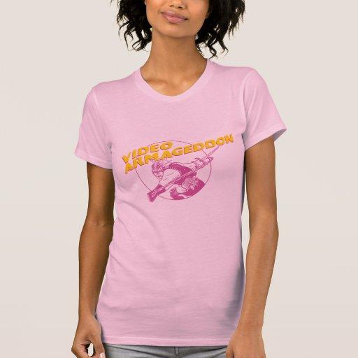 Video Armageddon - 80s Pink Womens Tshirt