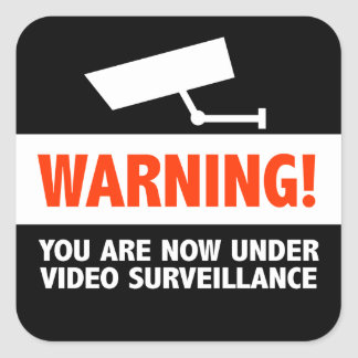 Video Camera Surveillance Square Sticker