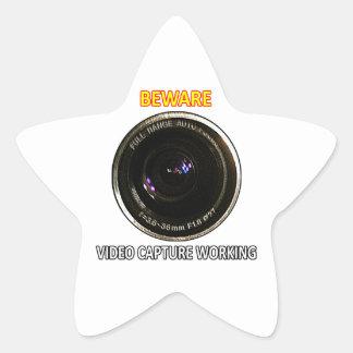 Video CAPTURE Working jGibney ART1 The MUSEUM Zazz Star Sticker